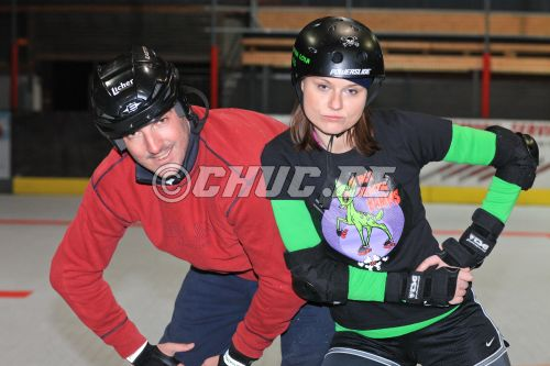 "Besuch bei den ""Back Breaking Bambies"" im Rollerderby"
